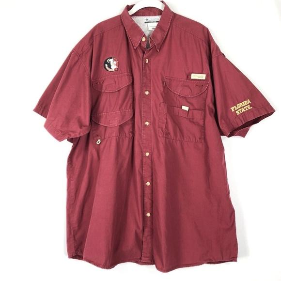 7537a64b6b4 Columbia Shirts   Vented Shirt 2xl Florida State Seminols   Poshmark